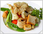 Fish Fillet with Snowpeas