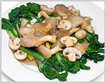 Fresh Mushroom with Abalone sauce