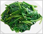 Spinach in Garlic sauce