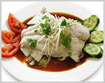Steamed Fish Fillet with Ginger Soy sauce